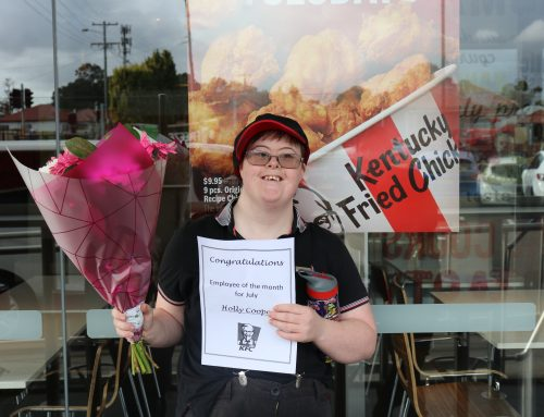 Congratulations Holly on KFC Employee of the Month!